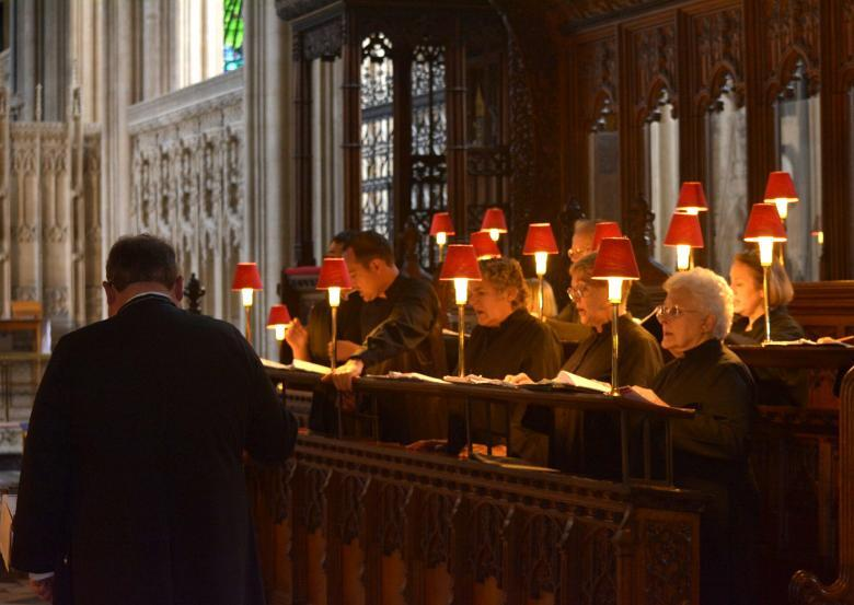 Being there: St. John's Cantate Deo choir in England